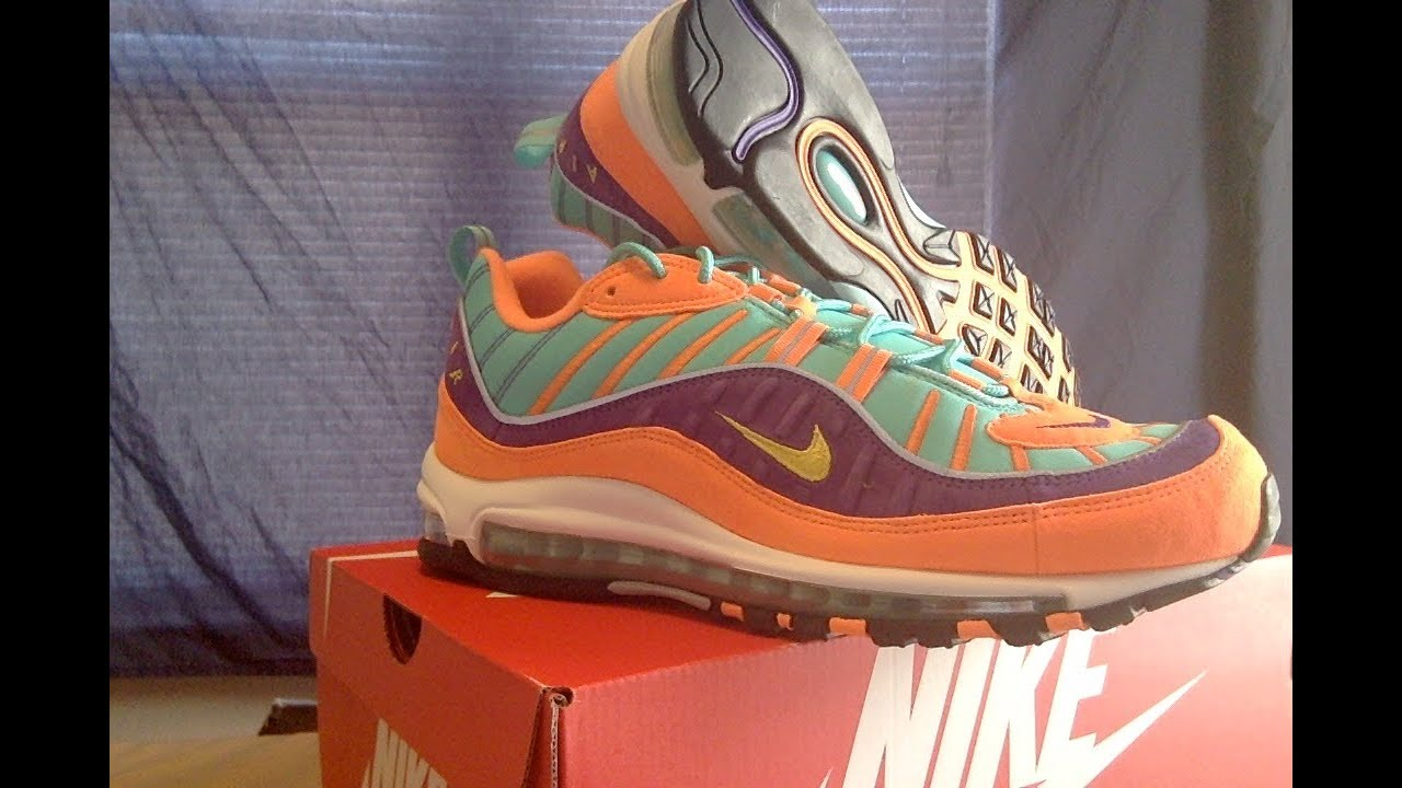 a1a9ef836aa7 Nike Air Max 98 CONES QS 924462 800 END. - YouTube