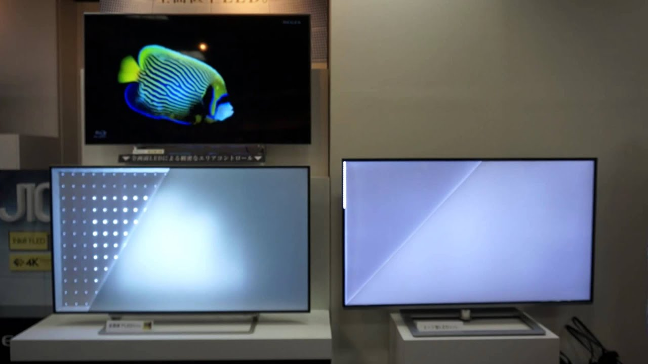 直下型LEDバックライトとエッジ型LEDバックライトの制御の比較1 ...
