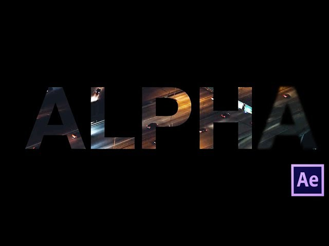 After effects tutorial - Video through text effects