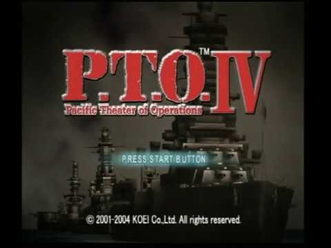 P.T.O. IV Pacific Theatre of Operations PS2 Gameplay (KOEI)