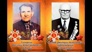 Ветераны - они воевали в Великую Отечественную войну. Надо помнить.