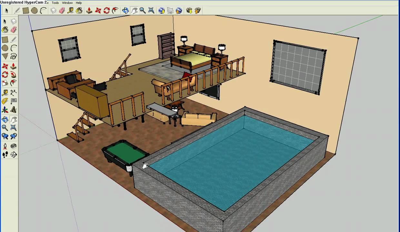 Elaborate Bedrooms On Google Sketchup Youtube