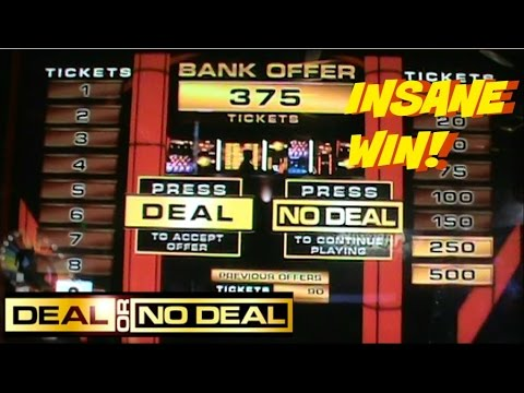 INSANE WIN! | Deal or no Deal Arcade Game | Arcade Fun | Jdevy