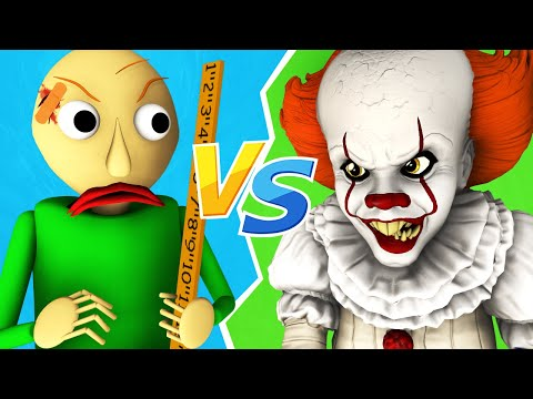 Baldi Vs Pennywise - The Movie (All Episodes Official Compilation It 2 3D Animation)