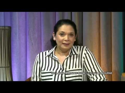 Chamari Weerakoon at Sri Lanka Morning Show, Melbourne, Australia Channel 31 - Part 1