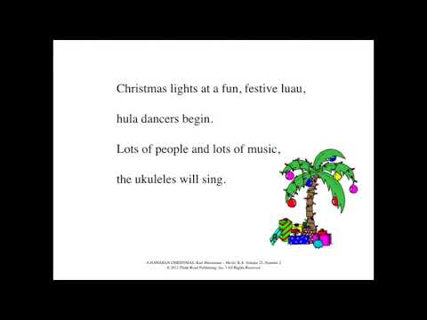 Hawaiian Ukulele XMAS SONG Lyrics