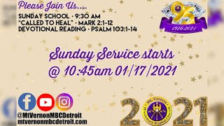"Sunday School - ""Called to Heal"" - 1/17/2021"
