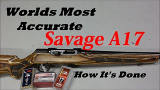 Savage A17,  17HMR  How I Made  It Shoot Straight.
