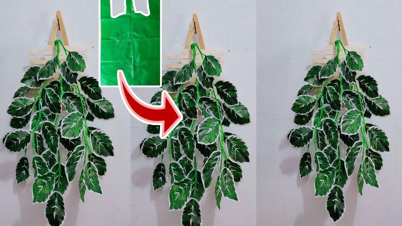 Diy Tanaman Hias Daun Rambat Dari Plastik Kresek Flower Crafts Ideas Youtube