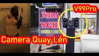 Camera Quay Lén | Giật Mình Phát Hiện Camera V99 Pro 4K Hồng Ngoại Đen kết Nối Wifi Giám Sát Từ Xa