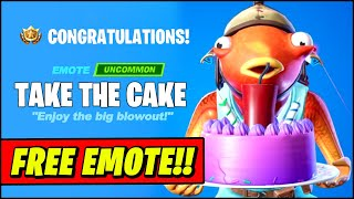 *NEW* Fortnite Take The Cake FREE EMOTE (How to Claim & BIRTHDAY EVENT Free rewards)