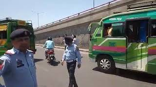 Traffic Police is an Action in Dogra chowk