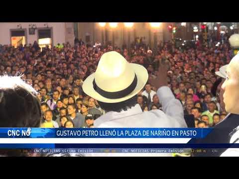 CNC Noticias Pasto - Gustavo Petro llenó la Plaza de Nariño en Pasto