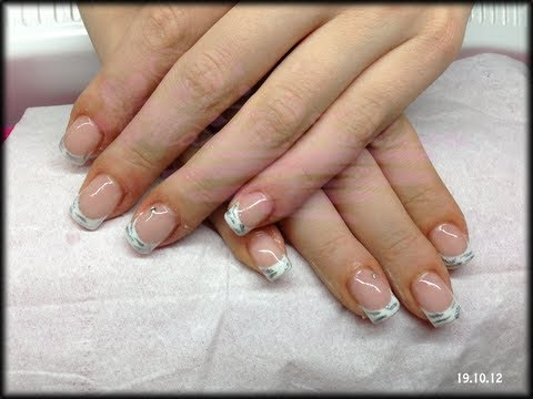 Nail Art French Bianco Con Righette Argento Maddafashion Youtube
