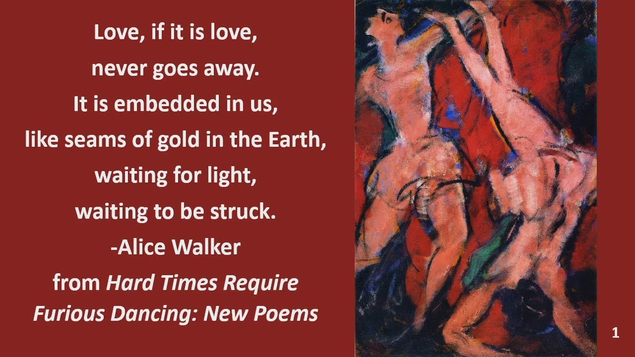 hard times require furious dancing- new Poems