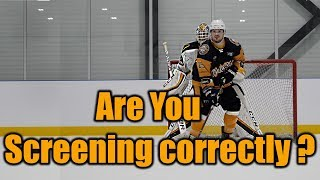 3 Essential points ALL hockey players should know on Screening a goalie