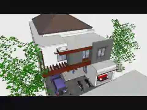 rumah minimalis 2 lantai - youtube