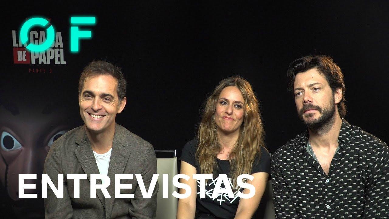 Entrevista a Pedro Alonso, Itziar Ituño y Álvaro Morte, actores de 'La casa de papel: Parte 3&#