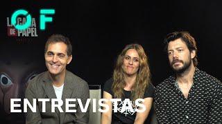 Entrevista a Pedro Alonso, Itziar Ituño y Álvaro Morte, actores de 'La casa de papel: Parte 3'