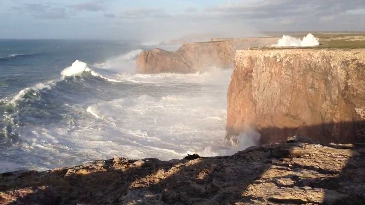 Hercules 2014 Huge Waves In Sagres Portugal Cabo S 227 O Vicente 6 1 14 Youtube