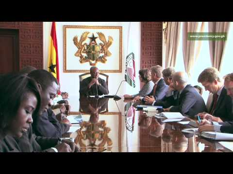 President John Mahama receives the Dutch Minister for Foreign Trade & Development Cooperation