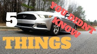 5 Thing you didn't know about the 2017 Mustang