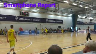 Smartphone Report Leeds Force v Sheffield Sharks