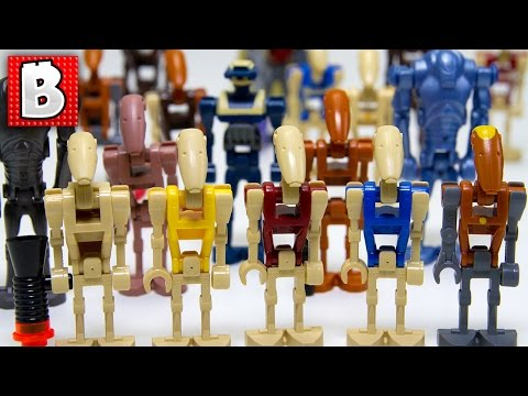Every Lego Battle Droid Minifigure Ever Made!!!  Rare Tactical Droid  Collection