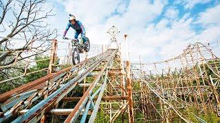 Dougie Lampkin's Last Joyride in an abandoned theme park.