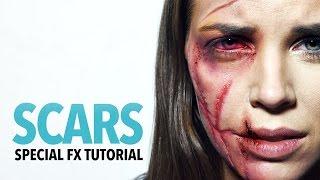 Scars fx makeup tutorial