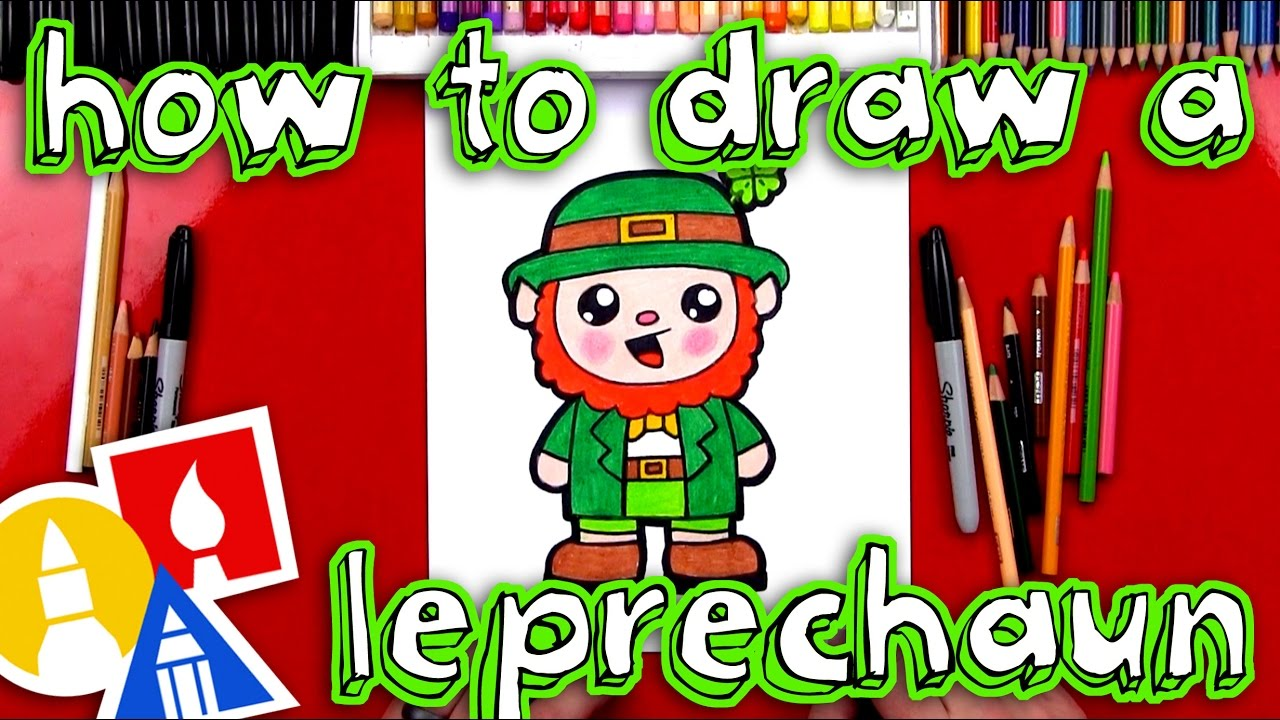 How To Draw A Cartoon Leprechaun Youtube