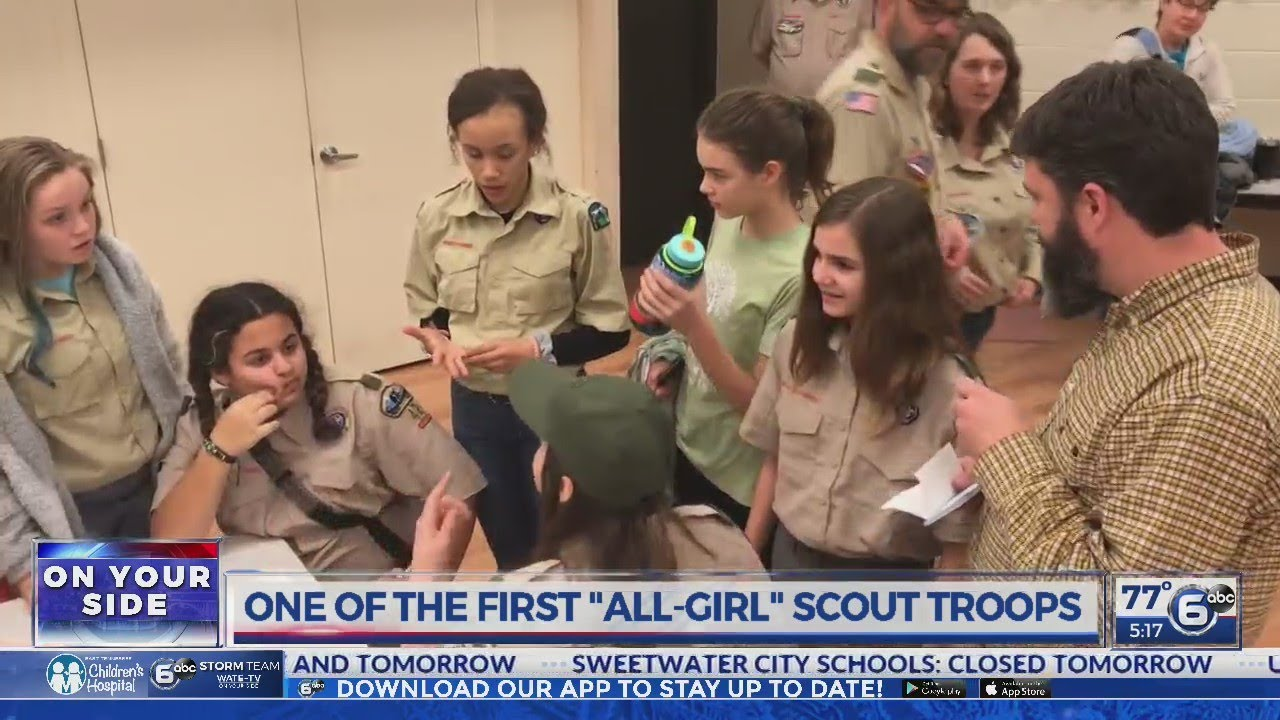 One of the first 'all girl' Scout troops active