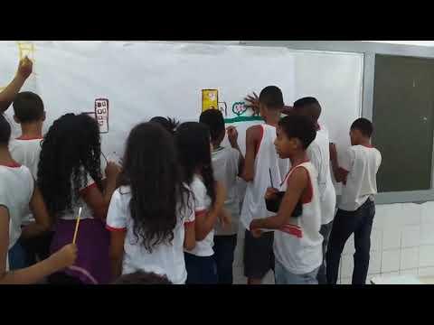 A  Arte através do hap, na Escola Pedro Paranhos 6ano