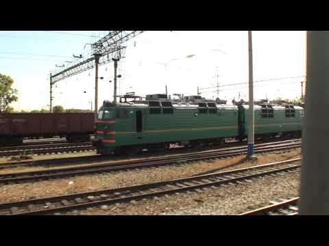 Вид из окна поезда Русские степи Белогорск