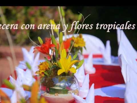 arreglos florales y decoracin para bodas en la playa en mxico youtube