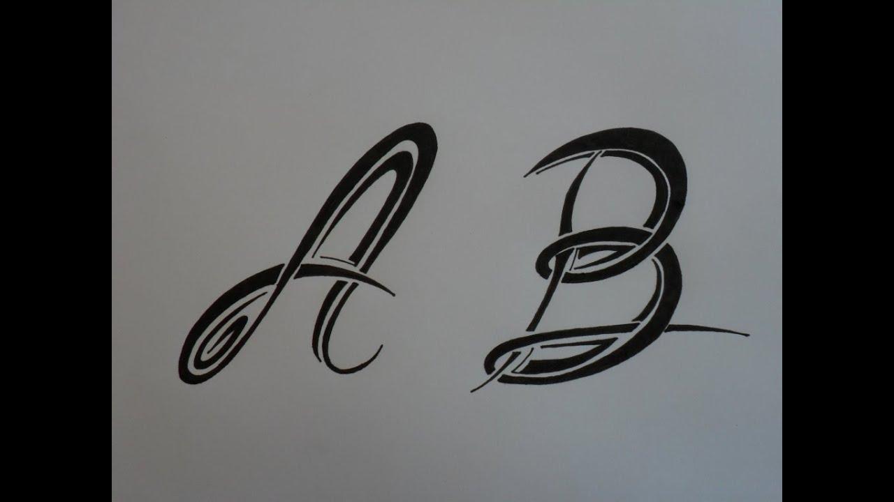 Letras tribales a y b bases elementales para dibujar - Letras para dibujar ...