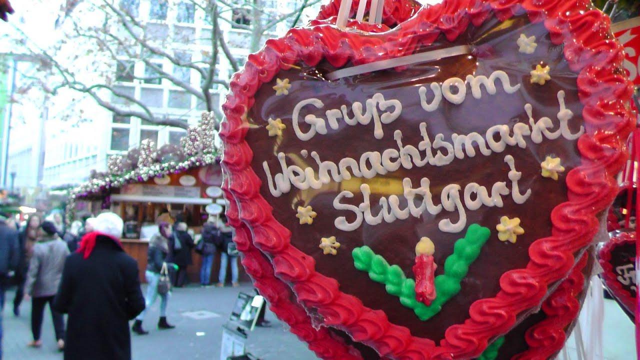 Stuttgarter Weihnachtsmarkt - Stuttgart Christmas Market am Tag ...