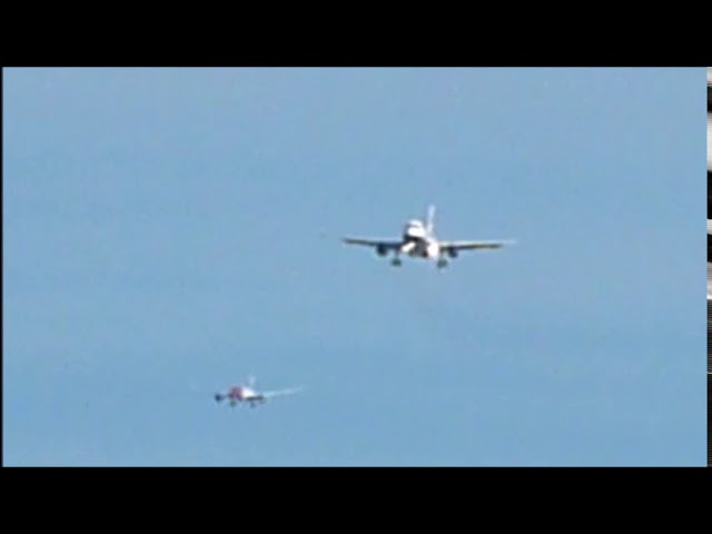 Aproximació d'avions a l'aeroport del Prat amb vent lateral - Gener 2018
