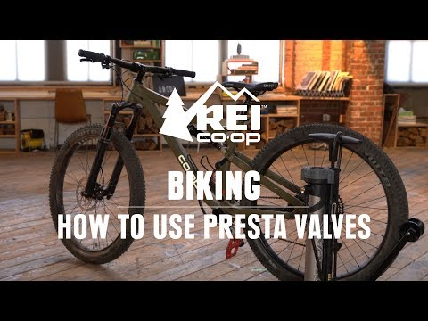 How To Pump Up A Bike Tire With Presta Valves || REI