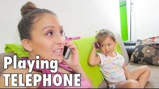 Playing TELEPHONE! (11.4.15 - Day 688) daily vlog