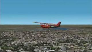 Microsoft Flight Simulator 2002 Flight in Paris, France