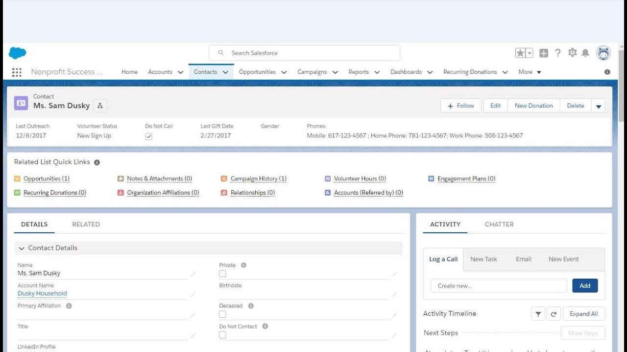 Salesforce Lightning 201-4a: Modifying Related List Quick Links