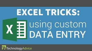 Excel Tricks - Using Custom Data Entry