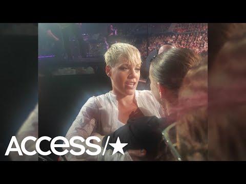 Tony Bristol - Pink Stops Concert To Hug Grieving Fan