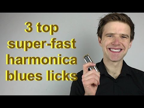 3 top super-fast blues licks for C harmonica (Essential blues harmonica lessons)