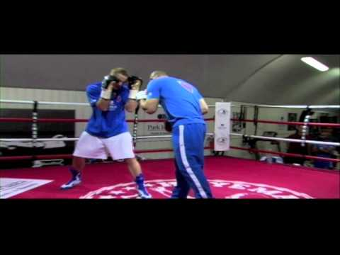 George Groves media work-out ahead of his fight with James DeGale