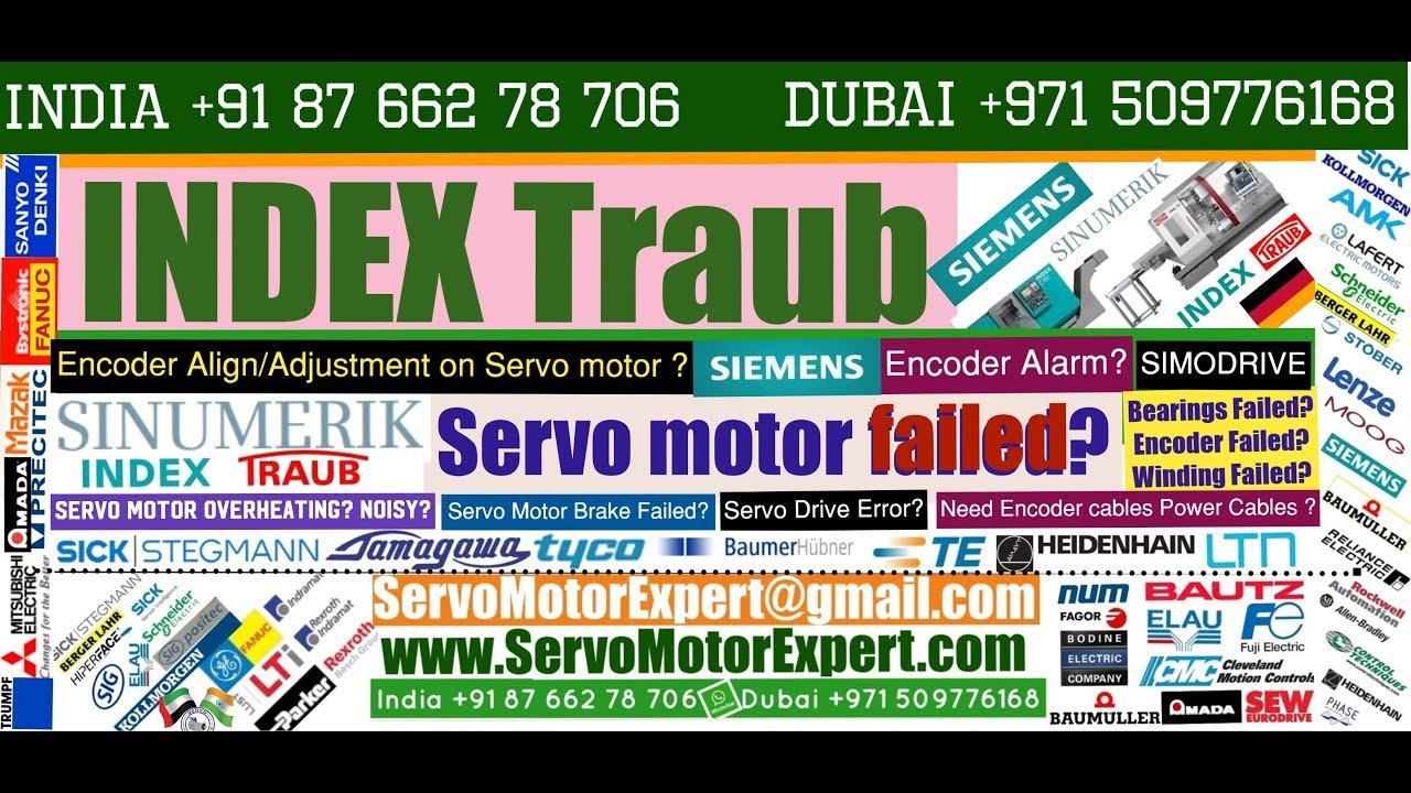 Index Traub Repair, Heidenhain motor encoder Adjustment,Servo Motor fault  codes,Drive Parameter