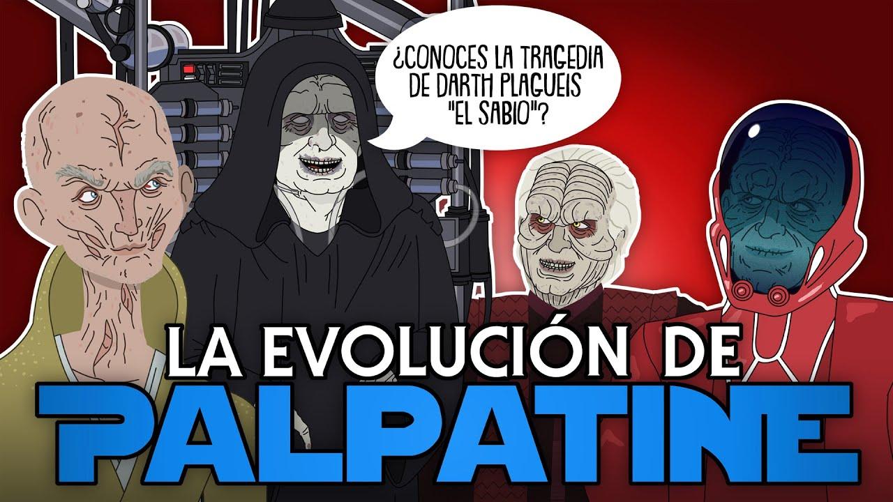 La evolución de Palpatine (Animada)