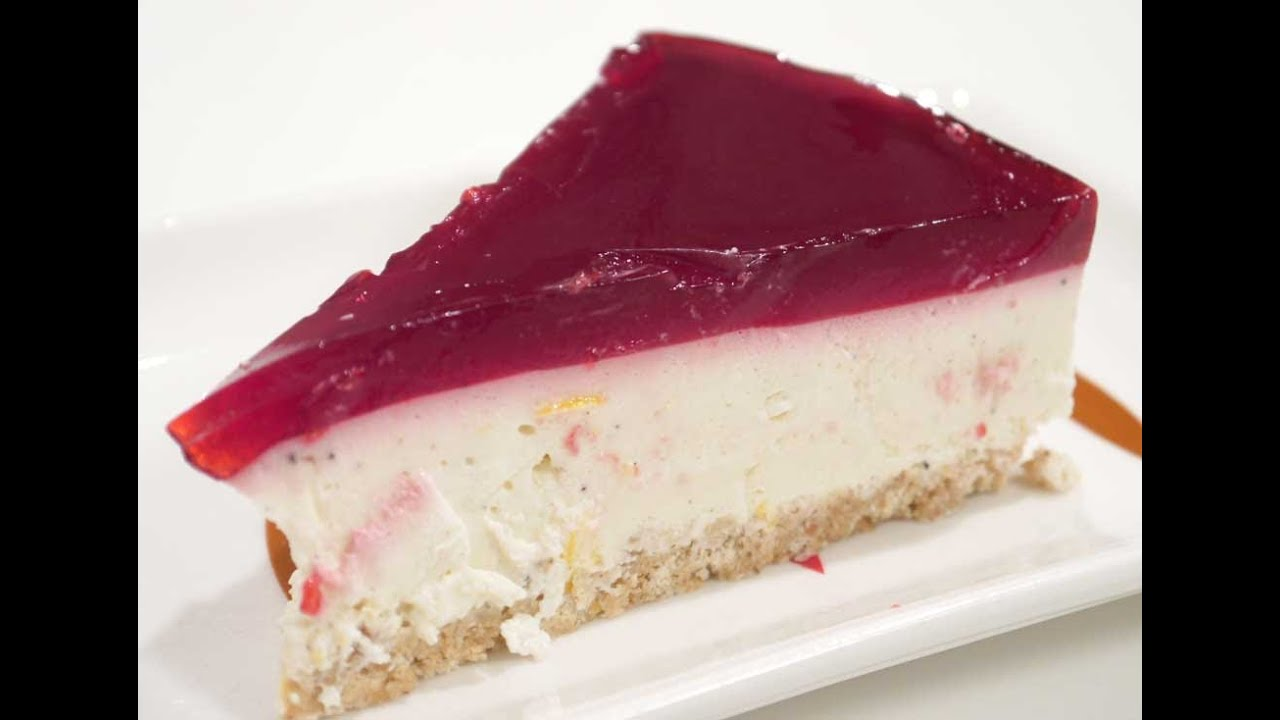No Bake Cheesecake With Gelatin Topping The Easiest Version Youtube