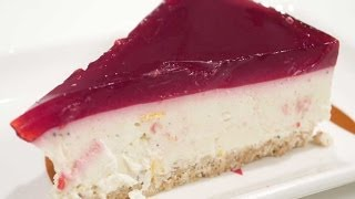 No Bake Cheesecake With Gelatin Topping - The easiest version